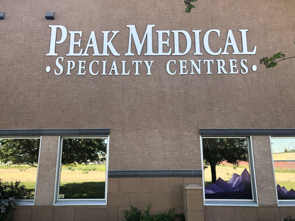 red deer peak medical/peak sleep front view