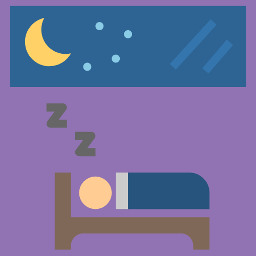 sleeping in bed at night graphic