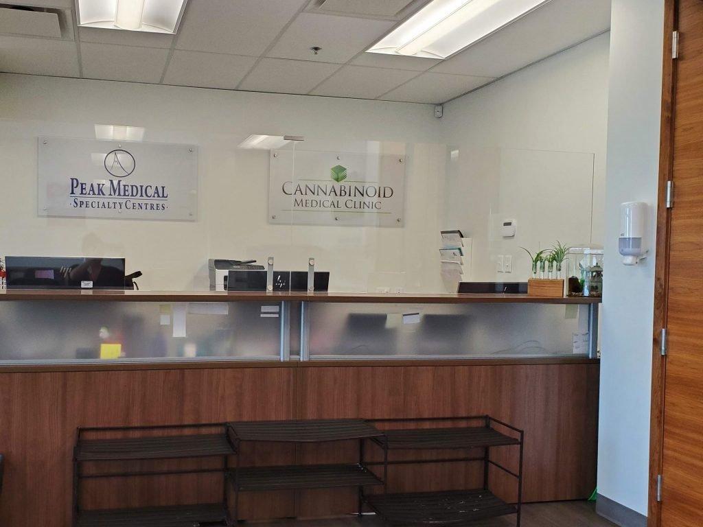 peak medical group edmonton front reception desk